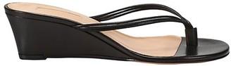 Aquazzura Pedi Leather Wedge Thong Sandals