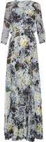 Erdem Lamara Hydrangea-print silk-georgette gown
