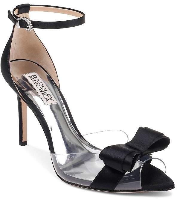 Badgley Mischka Women's Lindsay Clear Peep Toe Pumps