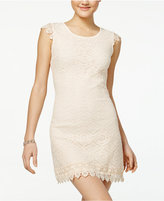 Sequin Hearts Juniors' Crochet Lace Sheath Dress