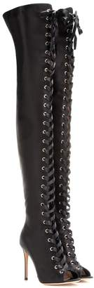 Gianvito Rossi Marie satin over-the-knee boots
