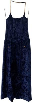 Chanel Blue Velvet Dresses
