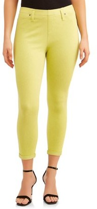 Time and Tru Jegging Capri Women's