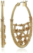 "Diane von Furstenberg Atlantis"" Woven Chain Hoop Earrings"