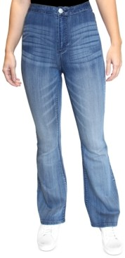 Almost Famous Crave Fame Juniors' High-Rise Flare Jeans