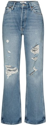 RE/DONE 90s Distressed Straight-Leg Jeans