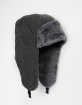 French Connection Trapper Hat - Grey