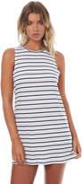 Roxy Womens Just Simple Stripe Tank Dress White