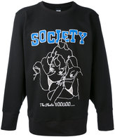 Kokon To Zai Society printed sweatshirt - men - Cotton - S