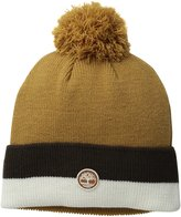Timberland Men's Stripe Color-Blocked Watch Cap with Pom