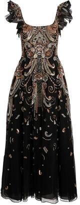 ZUHAIR MURAD Sequin-Embellished Baker Dress