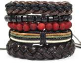 Tag Twenty Two 5 Pack Layered Style Men's Bracelet Set in Black