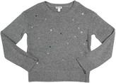 Splendid Kid's Lurex Star Embroidery Sweater, Size 7-14