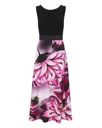 N. Joanna Hope Fit Flare Maxi Dress
