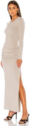James Perse Sueded Jersey Long Sleeve Split Dress