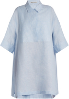 Acne Studios Sena Li point-collar linen shirtdress