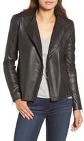 Halogen Petite Women's Asymmetrical Leather Jacket