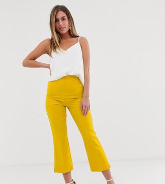 Miss Selfridge crop tailored pants in yellow