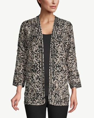 Travelers Collection Printed Soutache Jacket