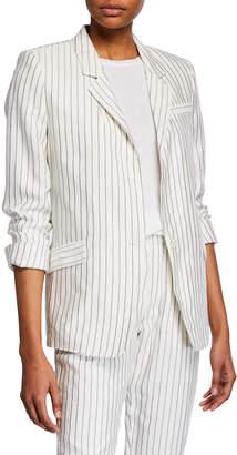 Joie Darryl Pinstriped One-Button Jacket