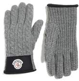 Moncler Men's Cable Knit Wool & Cashmere Gloves