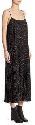 Vince Tossed Ditsy Pleated Dress