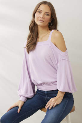 Free People Lilac Flaunt It Tee Lilac M
