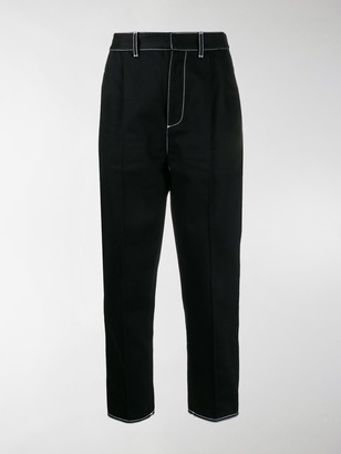 Alexander McQueen Buckled Detail Straight Trousers
