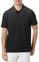 Perry Ellis Short Sleeved Jacquard Polo Shirt