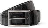 Santiago Gonzalez 3cm Black Crocodile Belt