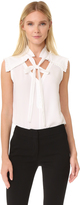 Yigal Azrouel Center Front Tie Top