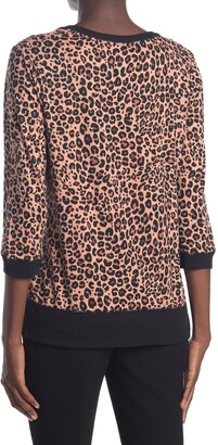 Layla Leopard Print 3/4 Sleeve Pajama Top