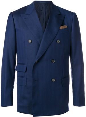 Caruso classic double-breasted blazer