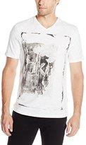 Calvin Klein Jeans Men's Textural Ck Logo Graphic V-Neck T-Shirt