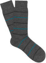 Pantherella - Stanhope Striped Merino Wool-blend Socks