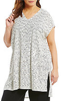Eileen Fisher Plus V-Neck Cap Sleeve Tunic