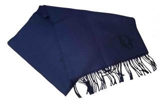 Christian Dior Blue Wool Scarves & pocket squares