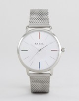 Paul Smith P10102 Ma Mesh Watch In Silver 38mm