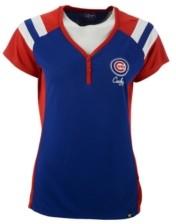 '47 Women's Chicago Cubs Triple Play Henley Shirt