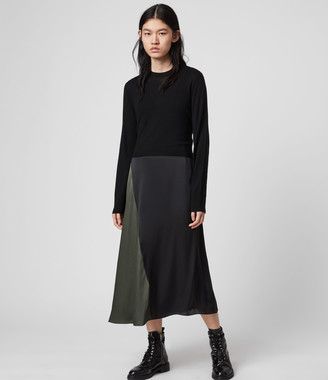 AllSaints Ageta Tie 2-in-1 Dress