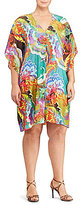 Lauren Ralph Lauren Plus Floral Flutter-Sleeve Dress