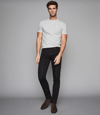 Reiss Lasoo - Jersey Stretch Slim Fit Jeans in Washed Black