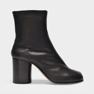 Maison Margiela Ankle Boots Tabi H80 In Black Soft Vintage Leather
