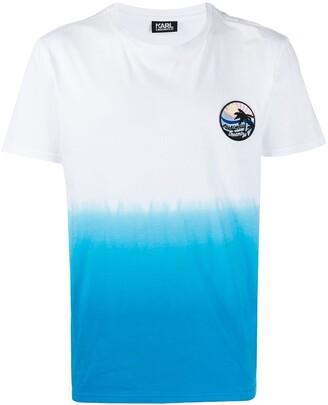 Karl Lagerfeld Paris dip-dye T-shirt