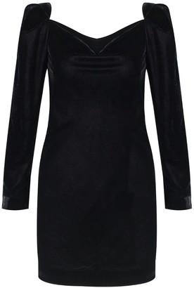 Rue Agthonis Black Velvet Drape Dress