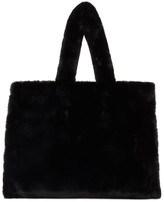 Stand Studio Black Faux-Fur Large Lola Tote