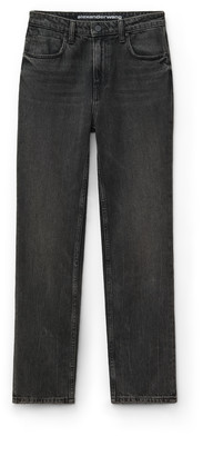 Denim Cult Cropped Straight Grey Aged