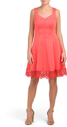 Sweetheart Neck Fit And Flare Dress
