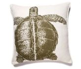 Turtle Linen Pillow