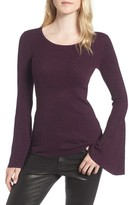 Hinge Women's Sparkle Bell Sleeve Sweater